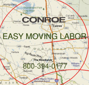 Hire pro Conroe moving help.