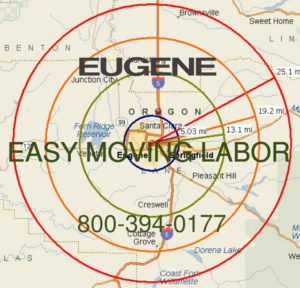 Hire pro Eugene moving help.