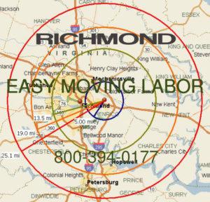 Hire local pro Richmond moving labor.
