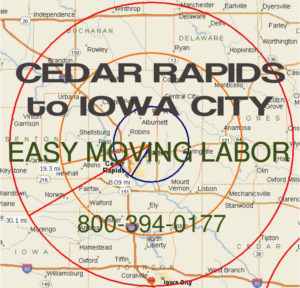 Hire pro Cedar Rapids moving help to load and unload for your move.