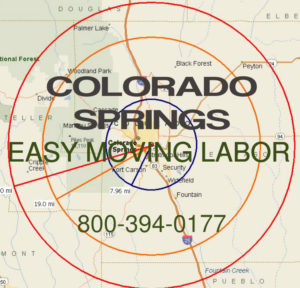 Hire pro Colorado Springs moving help to load and unload for your move.