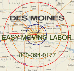 Hire pro Des Moines moving help to load and unload for your move.