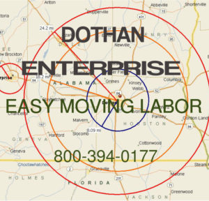 Hire Dothan and Enterprise moving labor help.