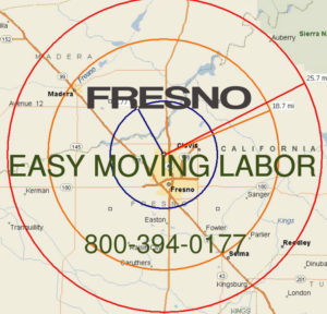 Hire pro Fresno moving help to load and unload for your move.
