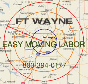 Hire pro Ft Wayne moving help to load and unload for your move.