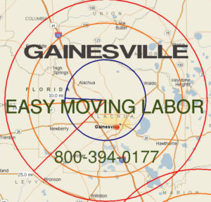 Hire pro Gainesville moving help to load and unload for your move.