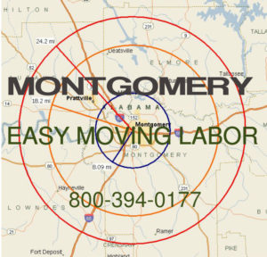Get pro Montgomery moving help to load and unload your pods.