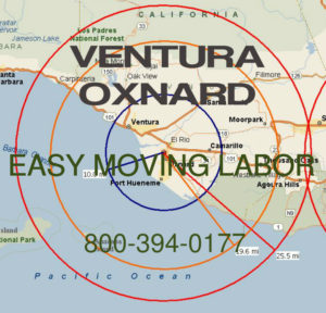 Hire pro Ventura and Oxnard moving help to load and unload for your move.