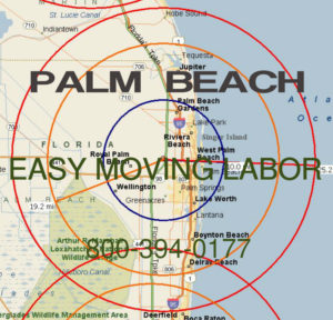 Hire pro Palm Beach moving help to load and unload for your move.