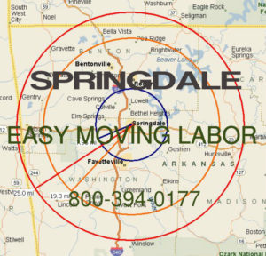 Hire Springdale moving help to load and unload your truck..